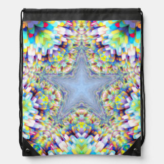 Colorful Abstract Star Drawstring Backpack