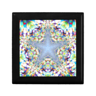 Colorful Abstract Star Jewelry Boxes