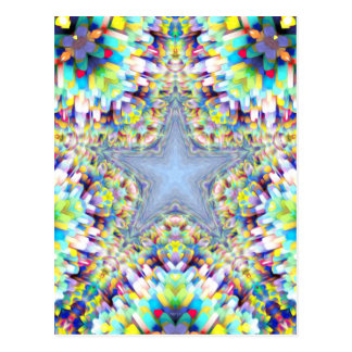 Colorful Abstract Star Postcard