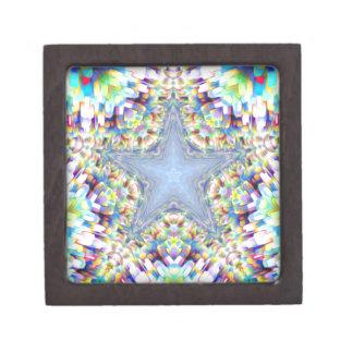 Colorful Abstract Star Premium Keepsake Boxes
