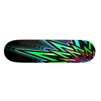 Colorful Abstract Star Skateboard