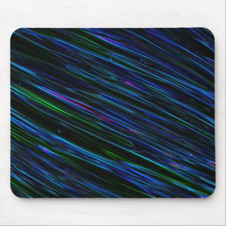 Colorful Abstract Star Streaks blue Mouse Pad
