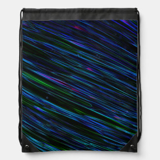 Colorful Abstract Star Streaks blue Drawstring Bag
