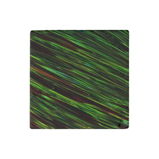 Colorful Abstract Star Streaks green Stone Magnet