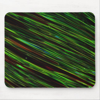 Colorful Abstract Star Streaks green Mouse Pad