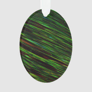 Colorful Abstract Star Streaks green Ornament