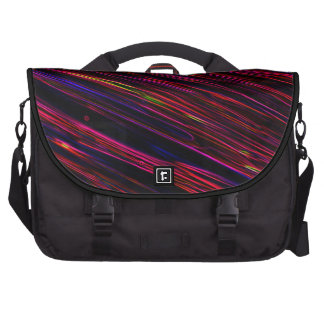Colorful Abstract Star Streaks red Commuter Bags