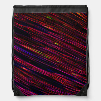 Colorful Abstract Star Streaks red Cinch Bags