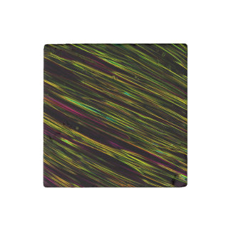Colorful Abstract Star Streaks yellow Stone Magnet