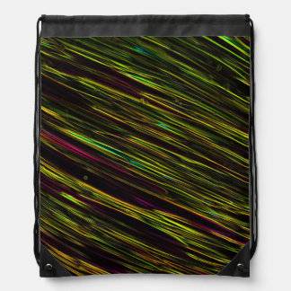Colorful Abstract Star Streaks yellow Backpack