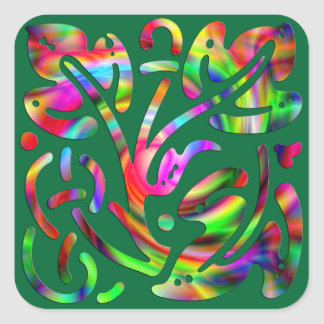 Colorful Abstract Sticker