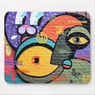 Colorful Abstract Street Graffiti Art Mouse Pad