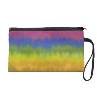 Colorful Abstract Stripes Baggette Wristlet Purse