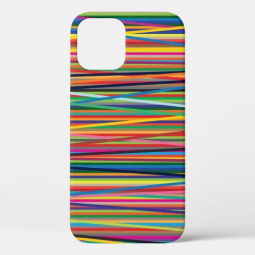 Colorful abstract stripes design Phone Case