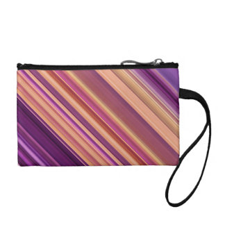 Colorful abstract stripes pattern coin purse