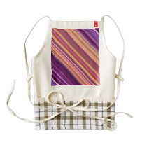 Colorful abstract stripes pattern zazzle HEART apron