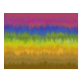 Colorful Abstract Stripes Postcard