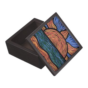Beach Themed Colorful Abstract Sunset Colors In Motion Keepsake Box