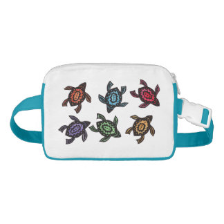 Colorful Abstract Swimming Turtles Fanny Pack