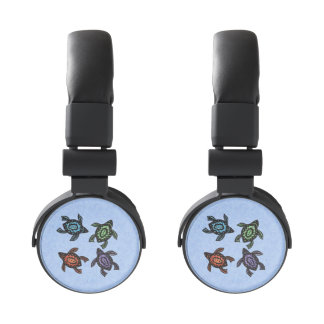 Colorful Abstract Swimming Turtles Headphones