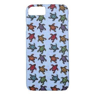 Colorful Abstract Swimming Turtles iPhone 7 Case