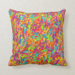 Colorful Abstract Swirl Throw Pillow