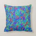 Colorful Abstract Swirl Throw Pillows