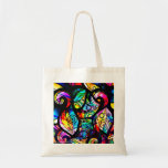 Colorful Abstract Swirls And Circles Design Bag