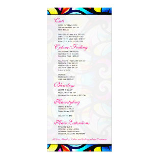 Colorful Abstract Swirls, Faux Stained Glass Look Rack Card