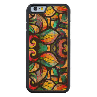 Colorful Abstract Swirls Stained Glass Look 2b Carved Cherry iPhone 6 Bumper Case