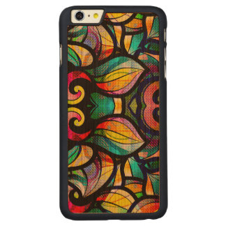 Colorful Abstract Swirls Stained Illusion Carved Cherry iPhone 6 Plus Case