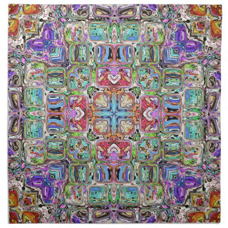 Colorful Abstract Symmetry Cloth Napkin