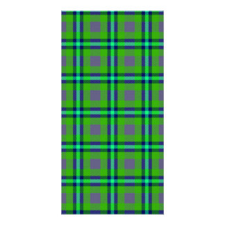 Colorful abstract tartan pattern card