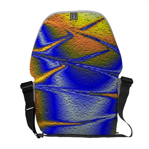Colorful abstract texture courier bag