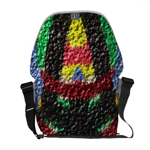 Colorful abstract texture messenger bags