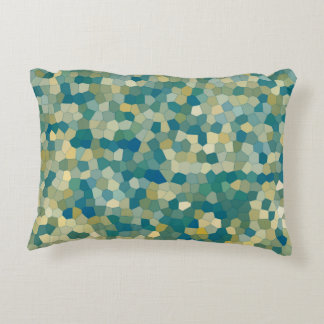 Colorful Abstract Texture Pattern Accent Pillow