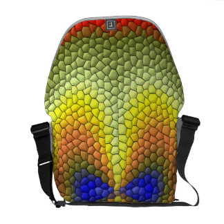 Colorful abstract tile pattern courier bag