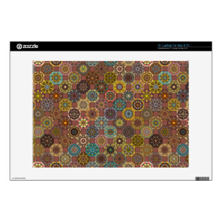 "Colorful abstract tile pattern design 13"" laptop skin"