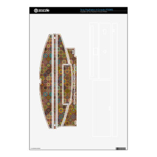 Colorful abstract tile pattern design decal for PS3