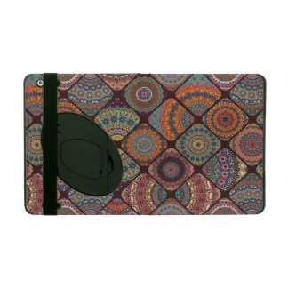 Colorful abstract tile pattern design iPad cover