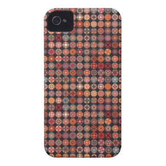 Colorful abstract tile pattern design iPhone 4 case