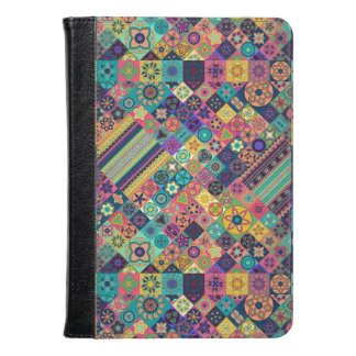 Colorful abstract tile pattern design kindle case