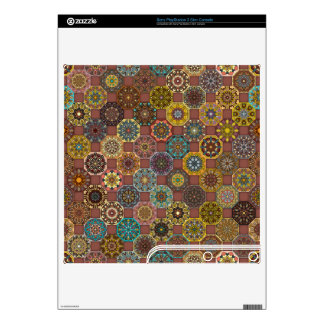 Colorful abstract tile pattern design PS3 slim skins