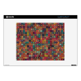 """Colorful abstract tile pattern design skin for 12"""" laptop"""
