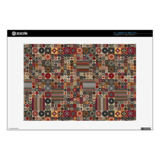 Colorful abstract tile pattern design skin for laptop