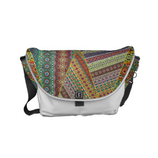Colorful abstract tile pattern design small messenger bag