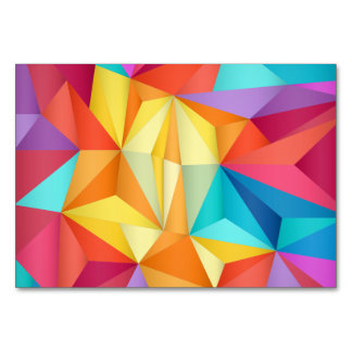 Colorful abstract triangle pattern card