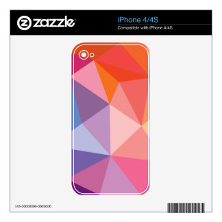 Colorful Abstract Triangle Pattern Decal For iPhone 4S