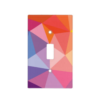 Colorful Abstract Triangle Pattern Light Switch Cover