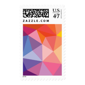 Colorful Abstract Triangle Pattern Postage Stamp